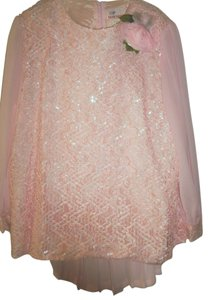 Star World Formal Skirtsuit by Star World in Pink, Embellished Top