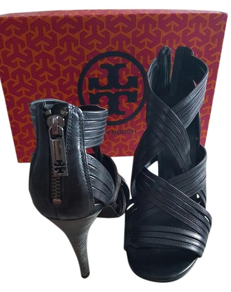 Tory Burch Gladiator Black Gladiator Burch High Heels Pumps 40ef8b