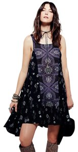 Free People short dress Charcoal combo on Tradesy