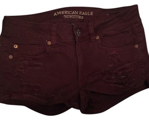 American Eagle Outfitters Mini/Short Shorts Burgandy