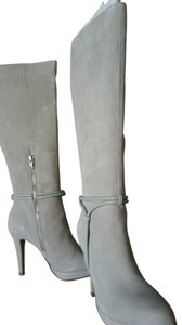 Boston Proper Suede Ivory Boots