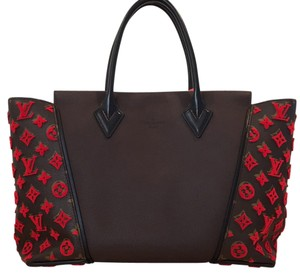 Louis Vuitton Artsy W Neverfull Rare Satchel in Red