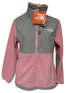 The North Face Fleece Full Zip pink and gray Jacket