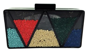 La Regale Bm Triangle Shake It Up Black and multi Clutch