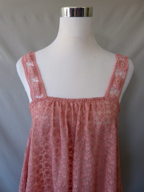 Other Mesh Embroidered Flowers Crochet Straps Top