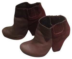 Rachel Comey Knox Leather/suede Combo Two Tone Color Mud/Claret Combo Boots
