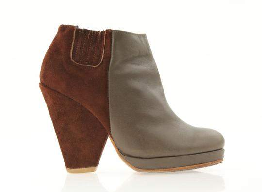 Rachel Comey Knox Leather/Suede Combo Two Tone Color Brown Boots