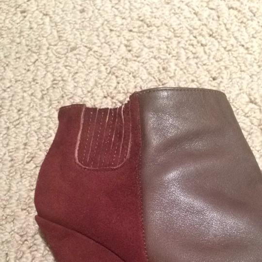 Rachel Comey Knox Leather/Suede Two Tone Color Mud/Claret Combo Boots