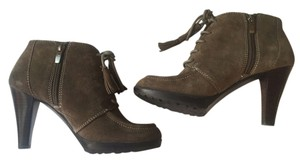 BCBGMAXAZRIA Leather Trim Buff Boots