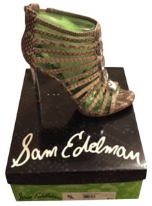Sam Edelman Snakeskin Stiletto Heel Beige Pumps