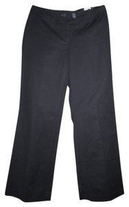 Ann Taylor LOFT Casual Stretchy Cotton Flare Pants Black