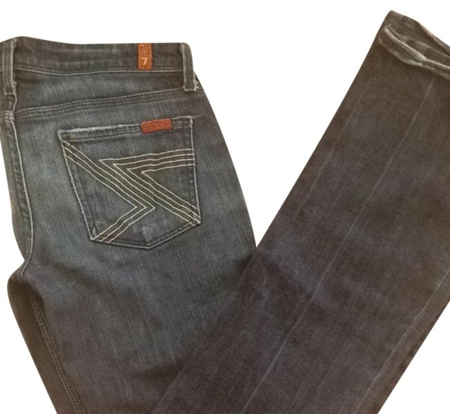 7 For All Mankind Designer Size 25 Boot Cut Jeans-Dark Rinse