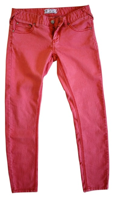 Item - Coral Coated Skinny Jeans Size 26 (2, XS)