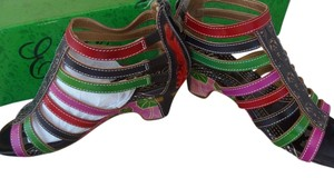 Corkys Elite Hand Painted Leather Multi Sandals