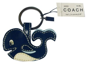 Coach Patent Leather Whale Key fob 92500 Keychain