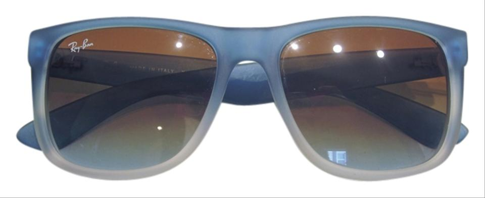 Ray Ban Blue & White Justin At Collection Fade Wayfarer Rb4165 Brown Gradient Lense No Case Sunglasses 54% off retail