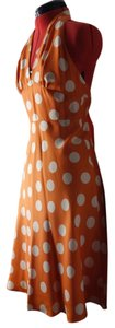 Laundry by Shelli Segal Orange Halter Dress