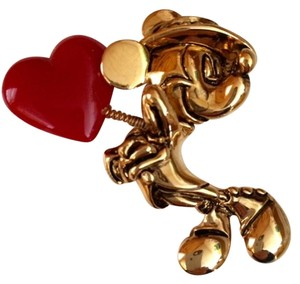 Disney Vintage Mickey Heart on a Spring Whimsical Brooch