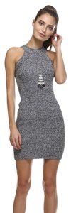 short dress Gray Fitted Bodycon on Tradesy