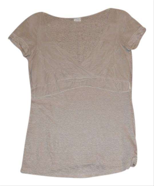 Other Gathered V-neck T Shirt Gray