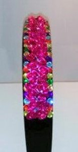 Fuschia Ooak Bling Headband Hair Accessory