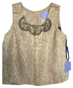Vera Wang Top yellow gold brocade