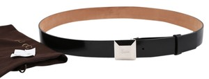 Gucci * Gucci Black Leather Belt - Size 105cm/42in