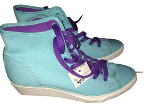 Converse turquoise/purple Wedges