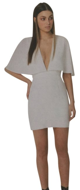 Item - White-cream Natural History Mid-length Night Out Dress Size 8 (M)