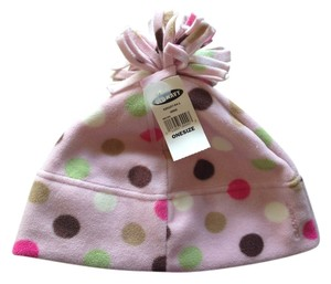131dddb462a6db Old Navy Old Navy Pink Polka Dots fleece winter hat, One Size