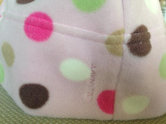 Old Navy Old Navy Pink Polka Dots fleece winter hat, One Size