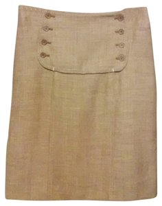Max Studio Special Edition Buttons Zip Skirt brown mauve