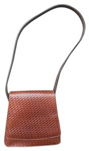 Via Spiga Leather Woven Leather Riding Shoulder Bag