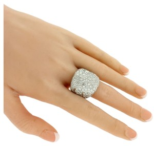 Pasquale Bruni Pasquale Bruni Pave Diamond Flower Ring In 18k White Gold.