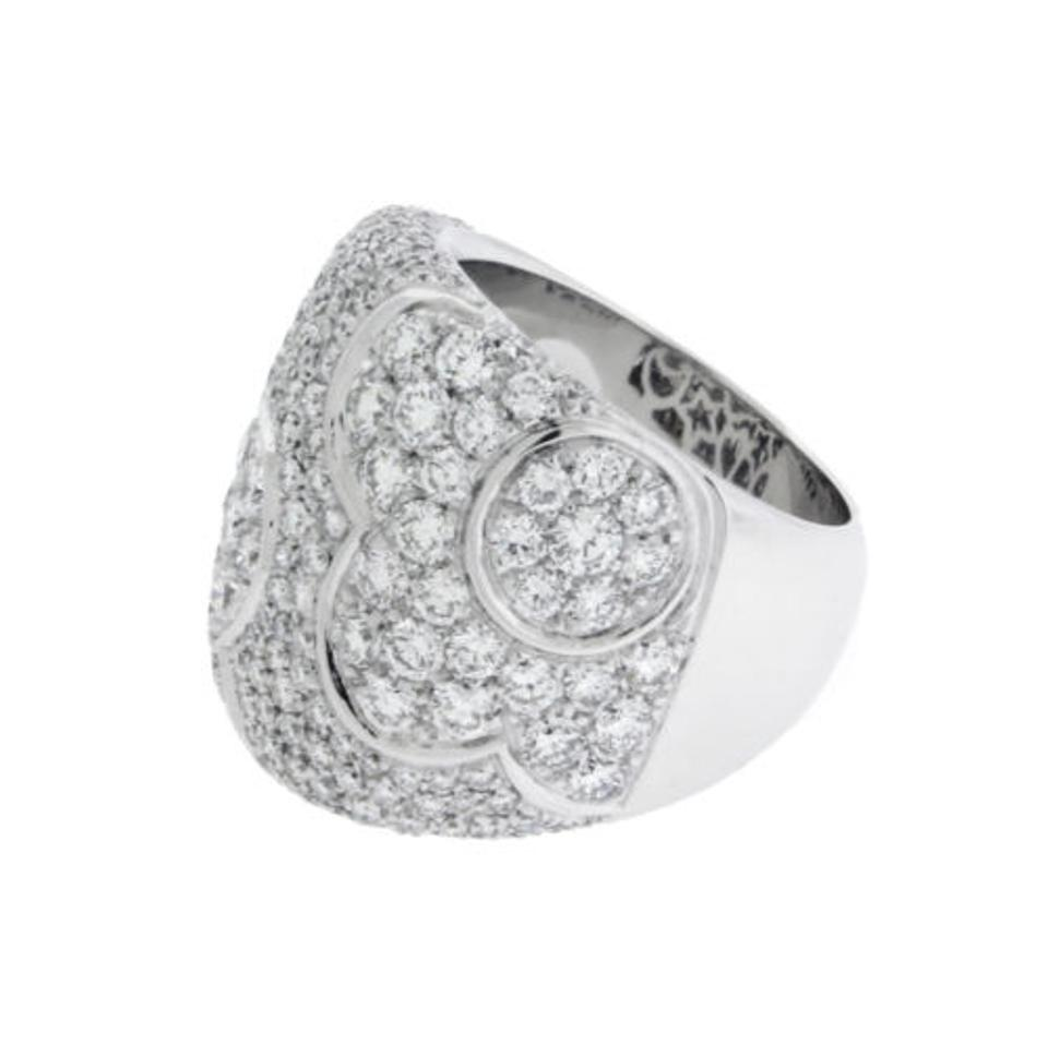 Pasquale Bruni Pave Diamond Flower In 18k White Gold. Ring - Tradesy