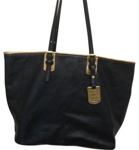 Longchamp Tote in Black with gold trim
