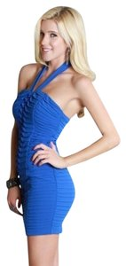 Nikibiki short dress Blue Multi Layered Origami Halter on Tradesy