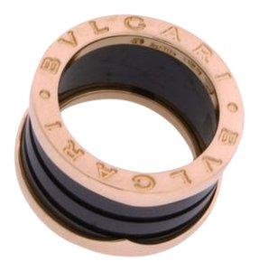 BVLGARI Bvlgari An856222 B.zero1 Band Blue Marble Ring In 18k Pink Gold.