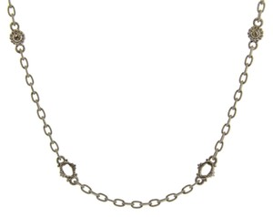 Judith Ripka Judith Ripka White Sapphire Basic Oasis Necklace In Silver 17 Inches