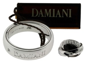 Damiani's Damiani Mens Orbital Diamond Ring In Karat White Gold 8mm Wide