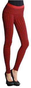 Nikibiki Houndstooth Red Leggings