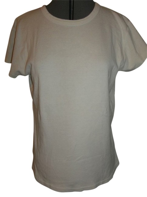 Mossimo Supply Co. Cap Sleeve 100% Cotton Rounded Collar Double Stitched T Shirt White