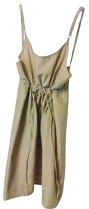 Adrienne Vittadini short dress BEIGE TAN CAMEL Spaghetti Zip on Tradesy