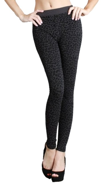 Nikibiki Vivid Leopard Charcoal Gray Leggings