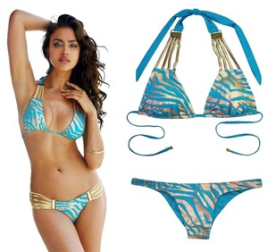 Beach Bunny Take The Reins Bikini M Top/M Bottom