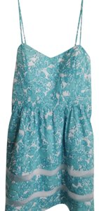 Lilly Pulitzer short dress Turquoise And White on Tradesy