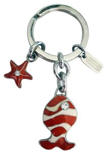 Coach Sealife Goldfish Koi and Starfish Key fob Keychain