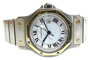 Cartier Cartier Santos Octagon Mens Midsize Watch, Automatic, Stainless Steel & 18Karat Gold