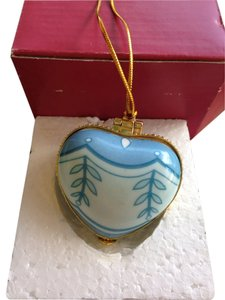 Other Beautiful Porcelain Blue Heart Pill Box/ornament.