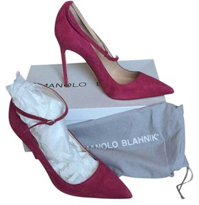 Manolo Blahnik New ankle strap pumps 38 Pink/red Pumps